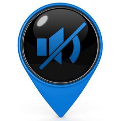 mute pointer icon on white background