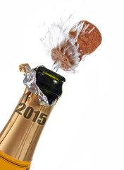 New year's eve champagne bottle 2015