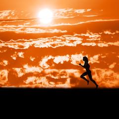 Running. Early morning run