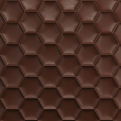 Brown honeycomb background