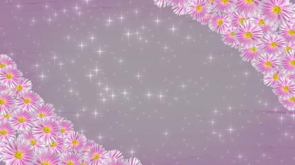 violet floral frame background - seamless loop