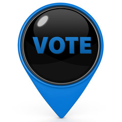 Vote pointer icon on white background