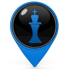 Chess pointer icon on white background