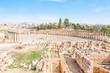 Roman Oval Forum in Gerasa, modern Jerash, Jordan