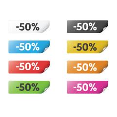 Colorful Sticker 50%