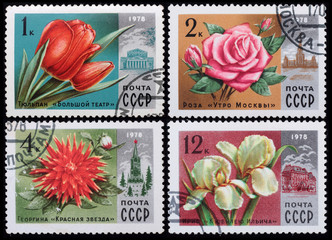Post stamp. Flowers