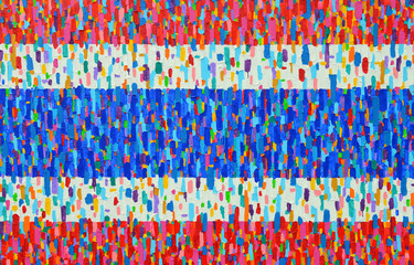 (Flag of Thailand) Texture, background and Colorful Image of an