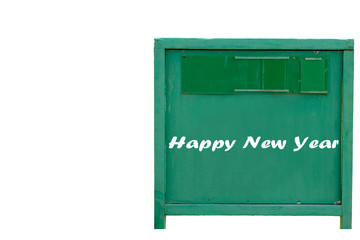 Happy new year wood tag