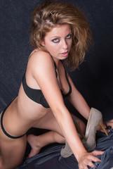 Shoe fetish, woman loves her high heels