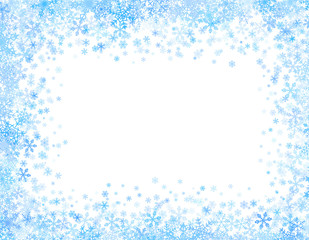 Frame with small snowflakes