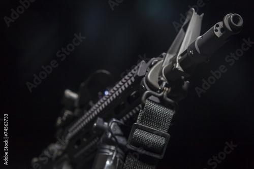 Keuken foto achterwand Jacht AR-15 Gun