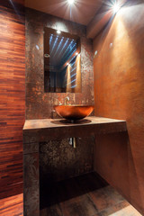 Washbowl in luxury bathroom