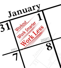 2015 new year's resolution is to workout and work less
