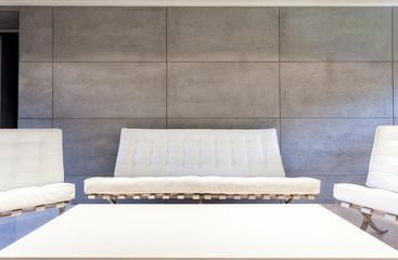 White furniture in modern room