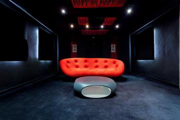 Interior of cinema at home