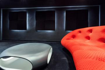 Modern sofa and table