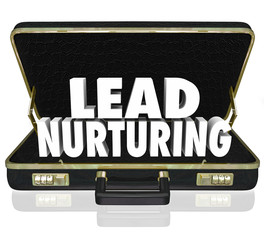 Lead Nurturing Briefcase Sales Campaign Educating Customers Pros