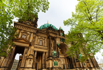 Close view of Berlin Cathedral Church