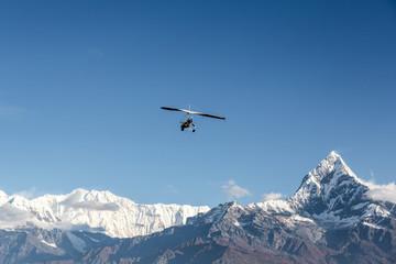 Ultra light flight over the Annapurna in Nepal