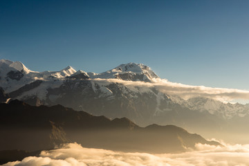 Sunrise over the Annapurna in Nepal