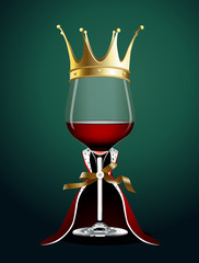 Vector of Wine glass in Princess Cloth