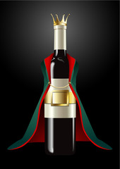 Vector of Wine Bottle in Prince Cloth