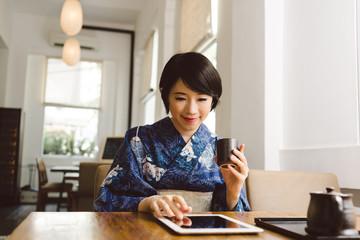 Modern Japanese woman