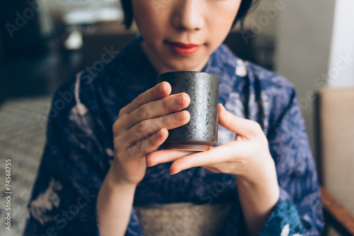 Traditional Japanese tea - 74568755