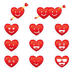Hearts, Emoticon, Smiley