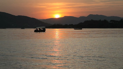 Sunset at Lake Pichola in Udaipur