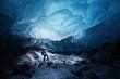 Leinwandbild Motiv ice cave in alaska