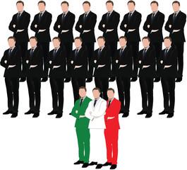 uomini italiani in carriera