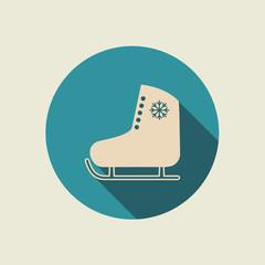 Ice skate icon.