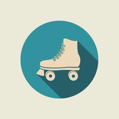 Retro roller skate icon.