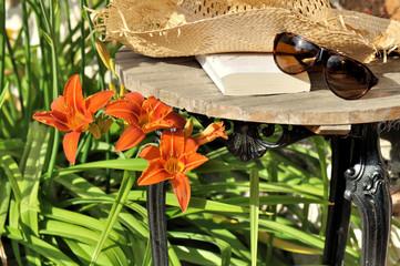 détente estivale au jardin