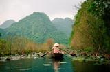 Yen stream on the way to Huong pagoda in autumn, Hanoi, Vietnam