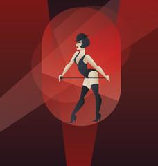 Art Deco poster design cabaret burlesque dancer