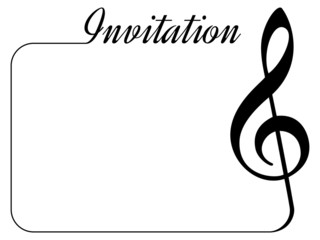 invitation card for music performance or concert