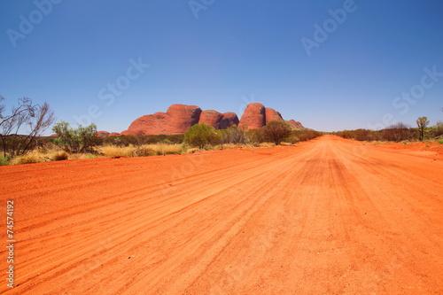 Foto op Canvas Baksteen Kata Tjuta in Australian outback