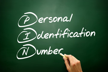 ersonal Identification Number (PIN), business concept acronym