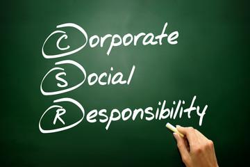 Corporate Social Responsibility (CSR), business concept acronym