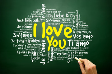 "Love words ""I love you"" in all languages of the world"