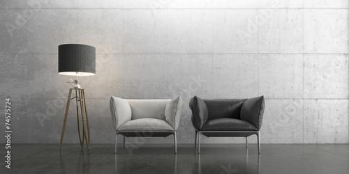Leinwanddruck Bild Interior, Wohnen, Design, Einrichtung, Möbel