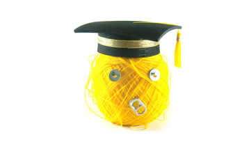concept of success yellow yarn