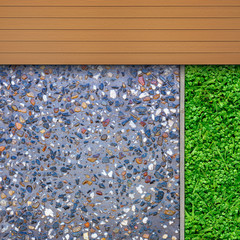 Timber, grass and aggregate details