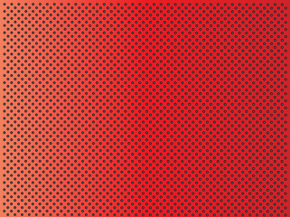 Metal perforated texture red background