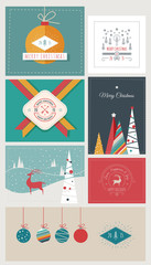 New Year and Christmas Greeting Cards and Banners
