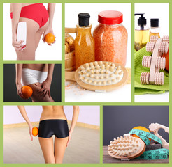 Body care collage. Healthy lifestyle concept