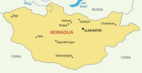 Mongolia - vector map