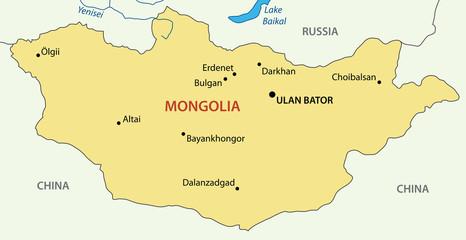 Mongolia - vector map